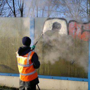 Graffiti verwijdering